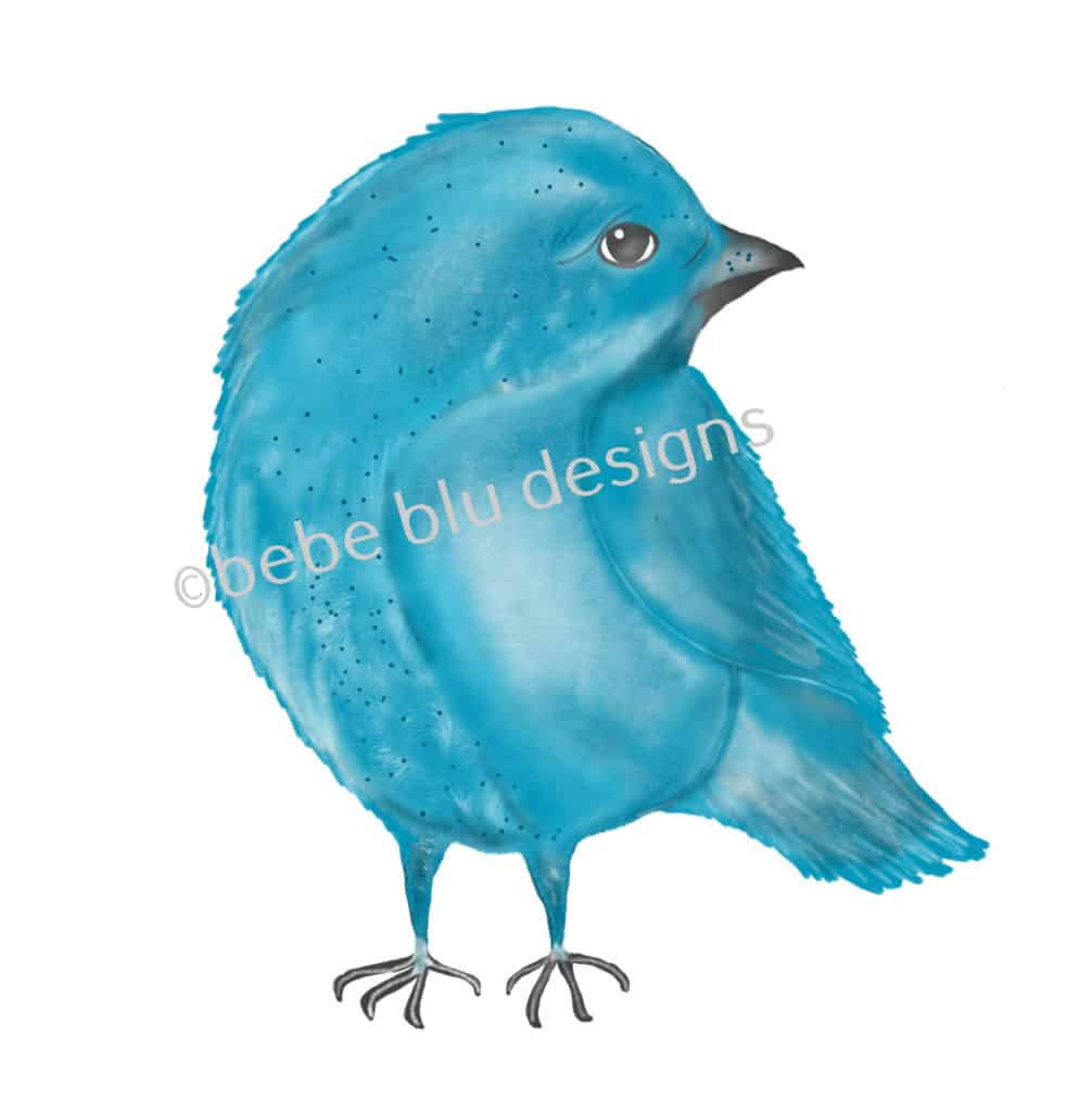 bebeblue designs: blue bird artwork