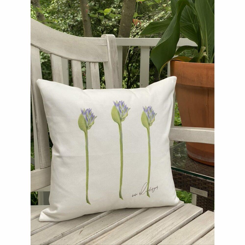 agapanthus bud pillow