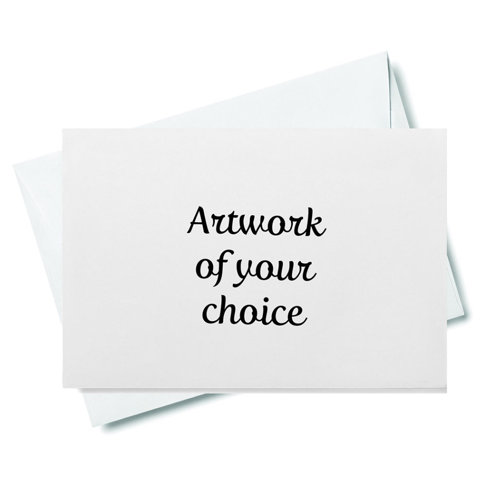 artwork of your choice sized for web