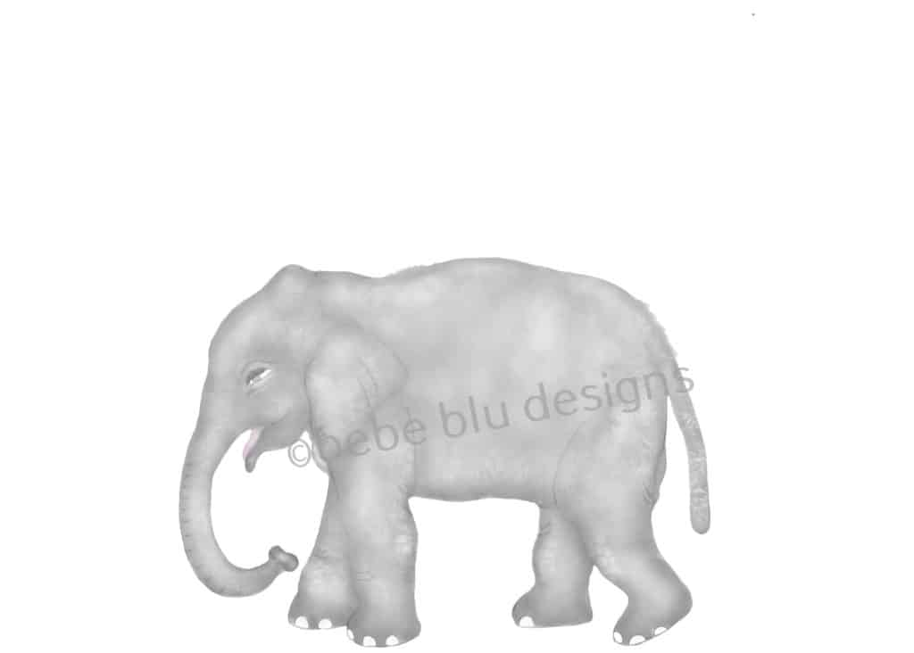 bebeblue designs: baby elephant artwork