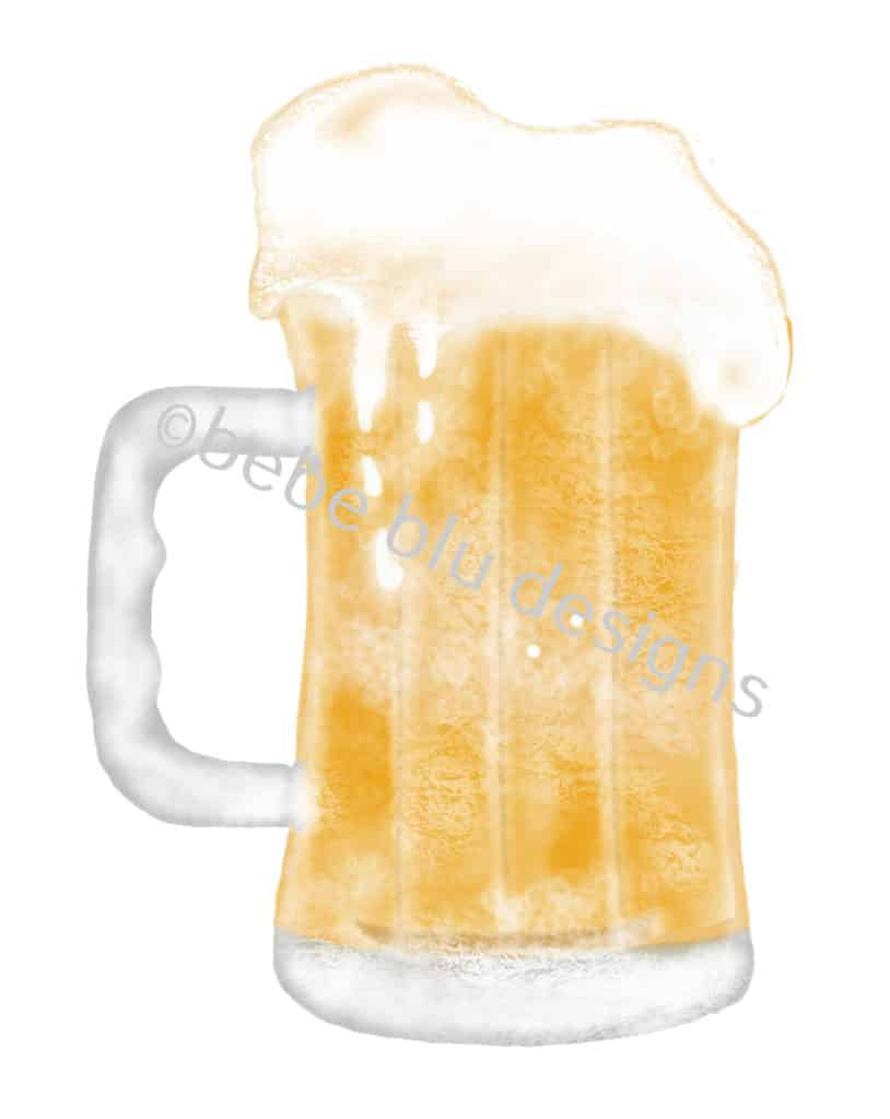 bebeblue designs: beer mug artwork