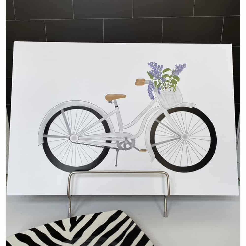 bicycle with lilac print 2