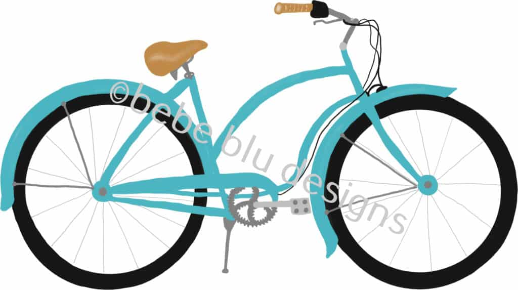 bebeblue designs: bike artwork