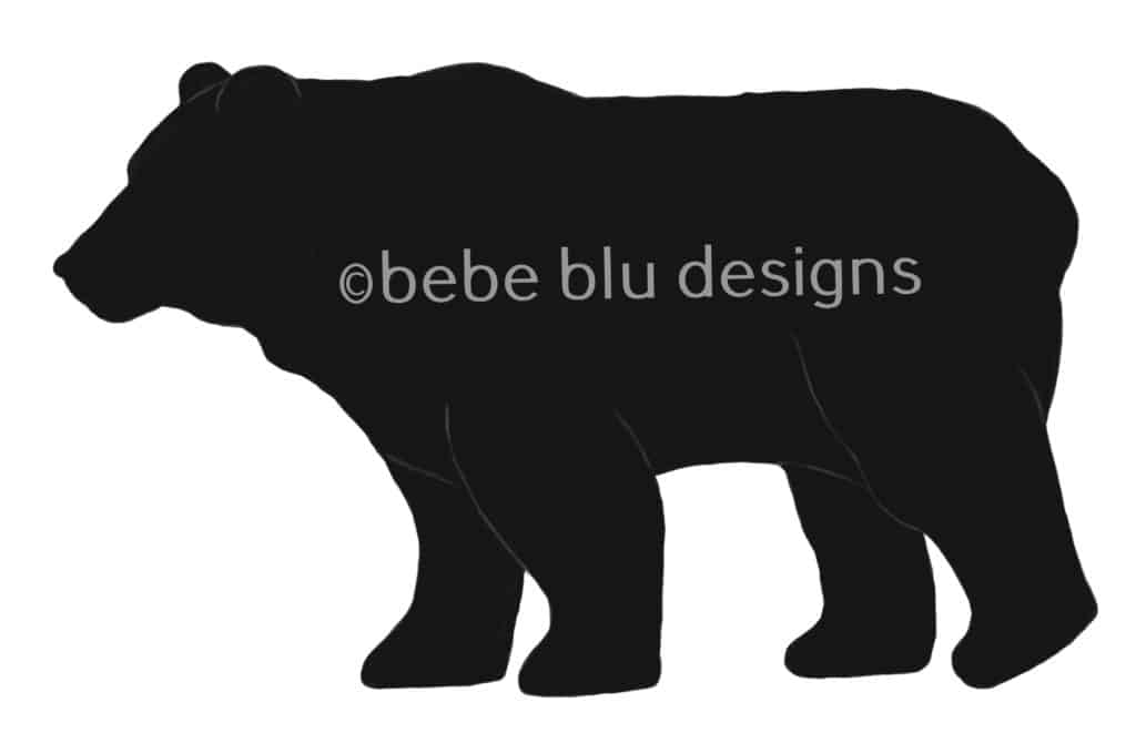 bebeblue designs: black bear silhouette artwork