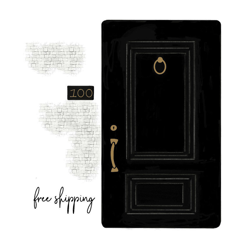 black door free shipping