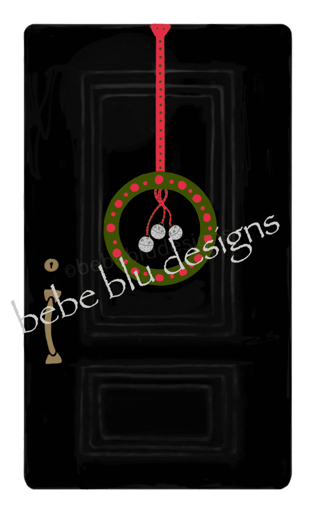 black door wreath