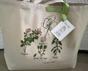 brighter herb tote