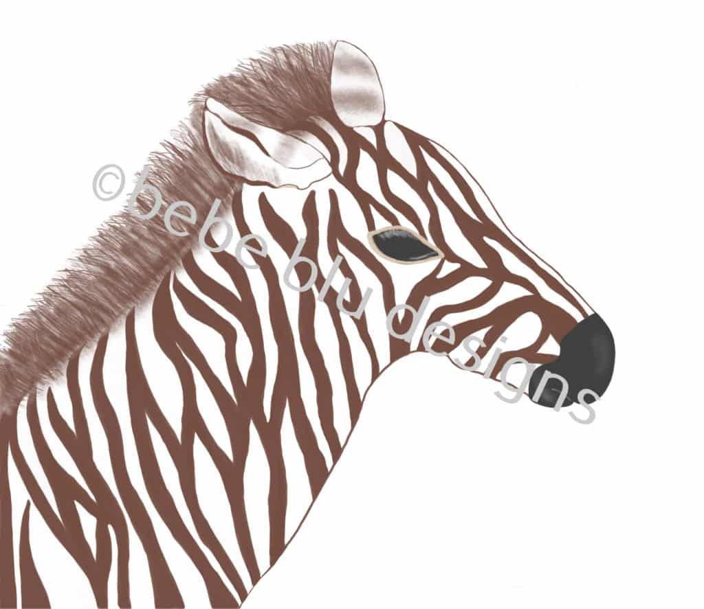 bebeblue designs: brown zebra artwork