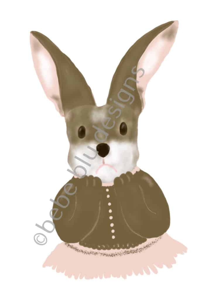 bebeblue designs: bunny fru fru artwork