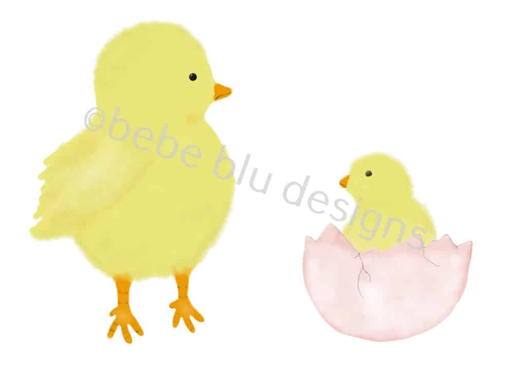 bebeblue designs: chicks artwork