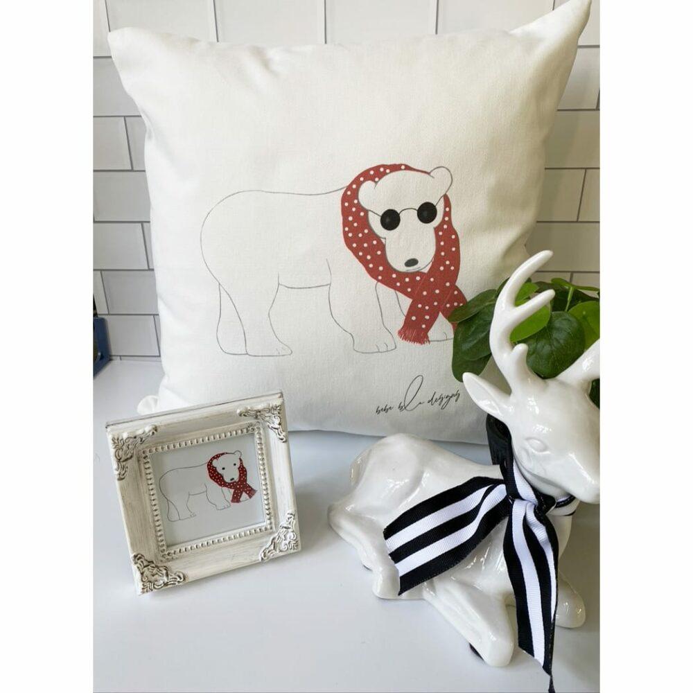 cool polar bear pillow