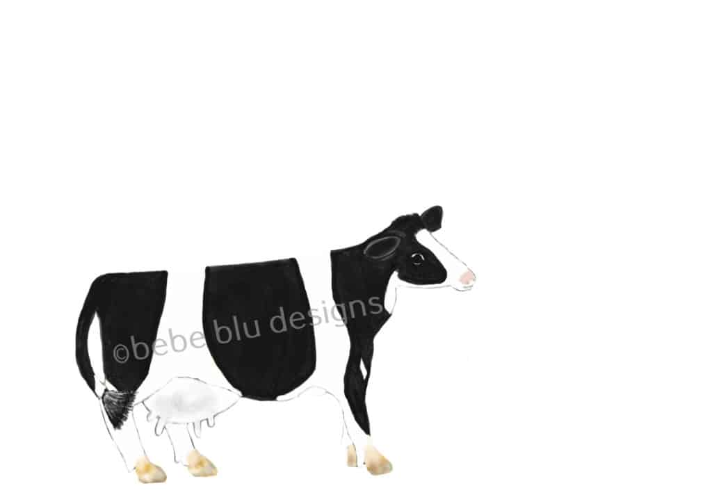 bebeblue designs: cow artwork