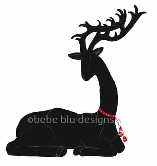 bebeblue designs: deer laying silhouette artwork
