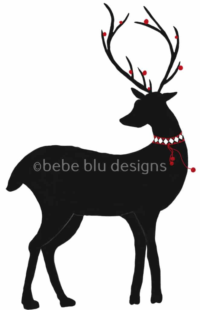 bebeblue designs: deer silhouette artwork