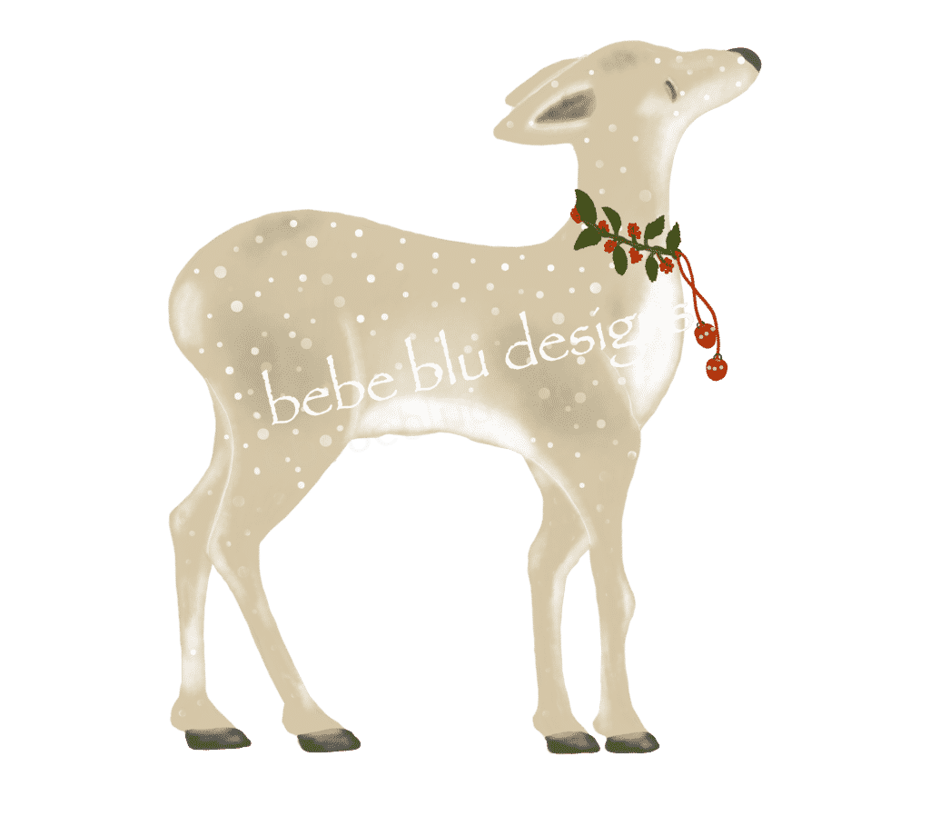 deer xmas with bells 2