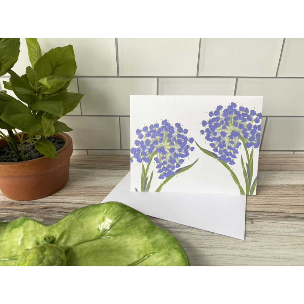 double globe flower card