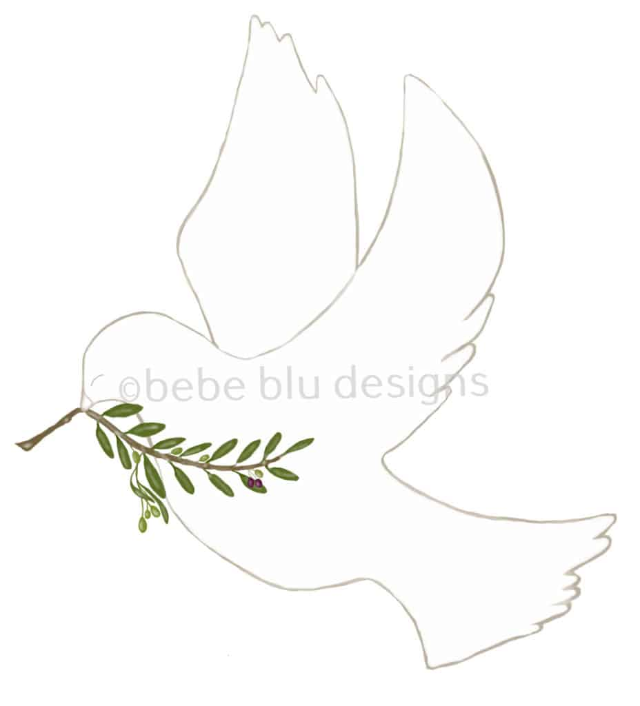 bebeblue designs: dove olive branch artwork