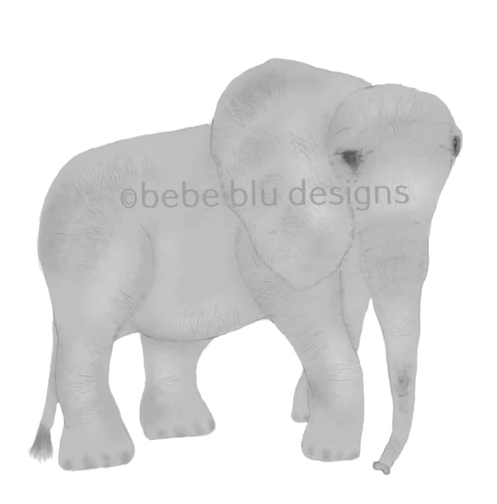 bebeblue designs: elephant artwork