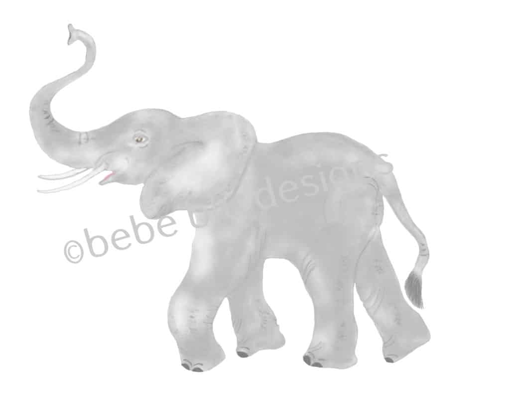 bebeblue designs: playful elephant artwork