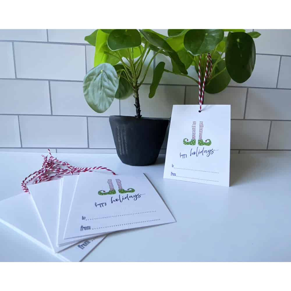 elf legs holiday gift tags web