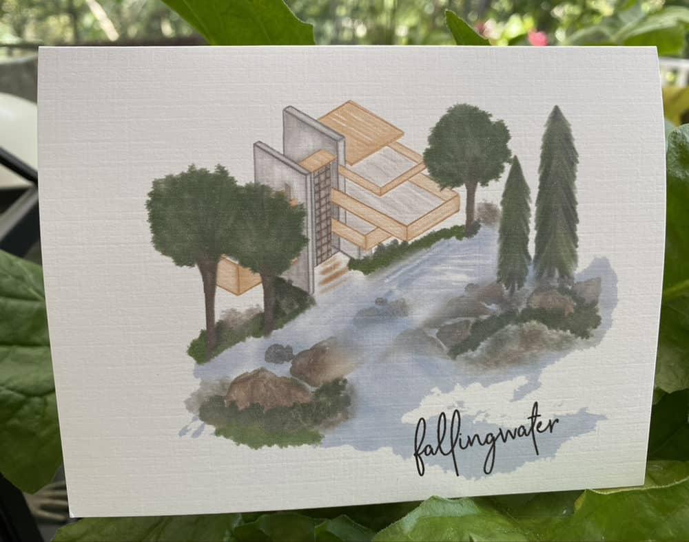 fallingwater note card