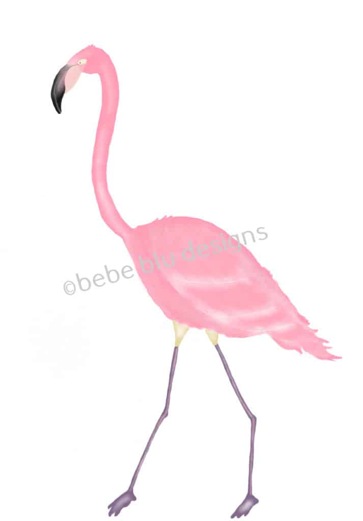 bebeblue designs: flamingo 2 artwork