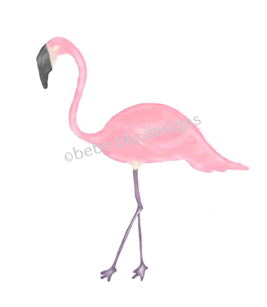 bebeblue designs: flamingo 3 artwork