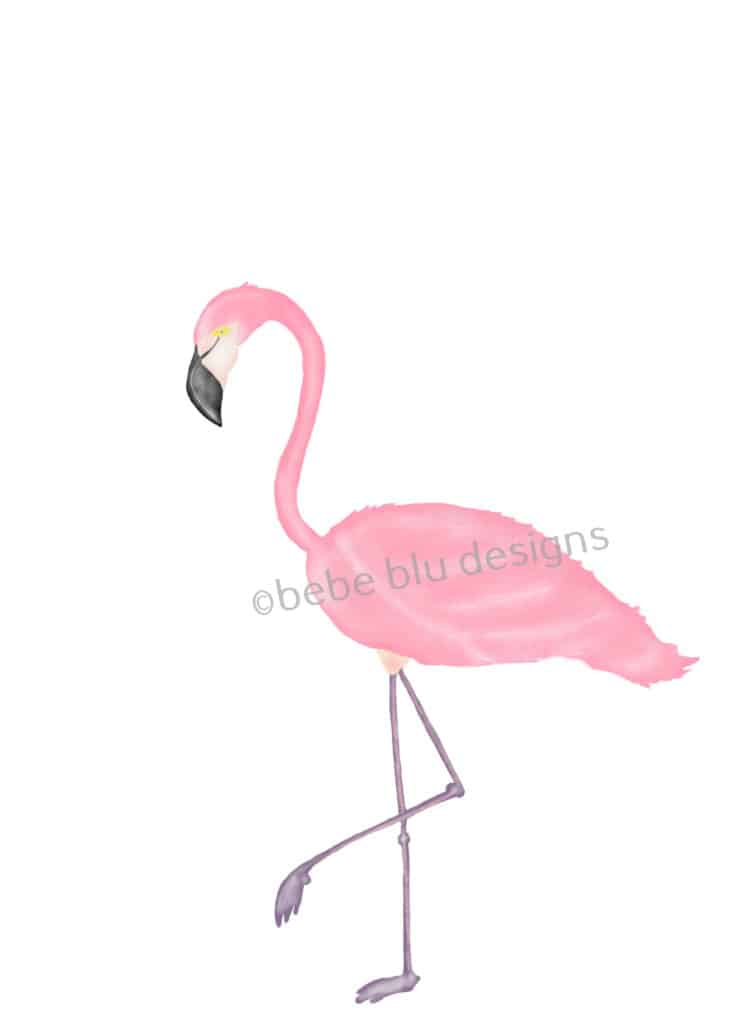 bebeblue designs: flamingo 1 artwork