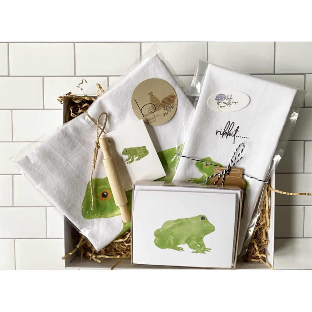 frog gift box set