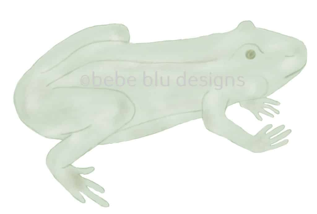 bebeblue designs: light green frog artwork