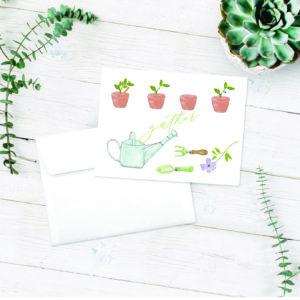 garden delight note card