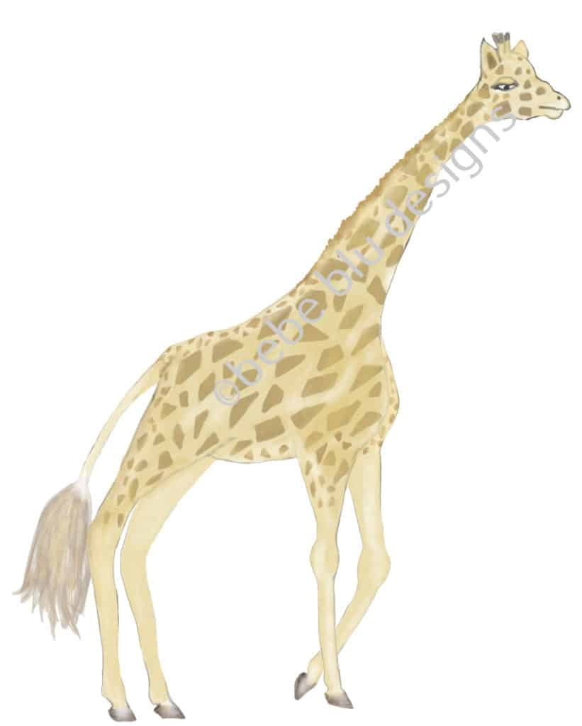 bebeblue designs: giraffe artwork