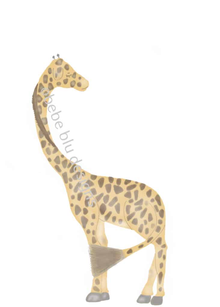 bebeblue designs: giraffe turned artwork