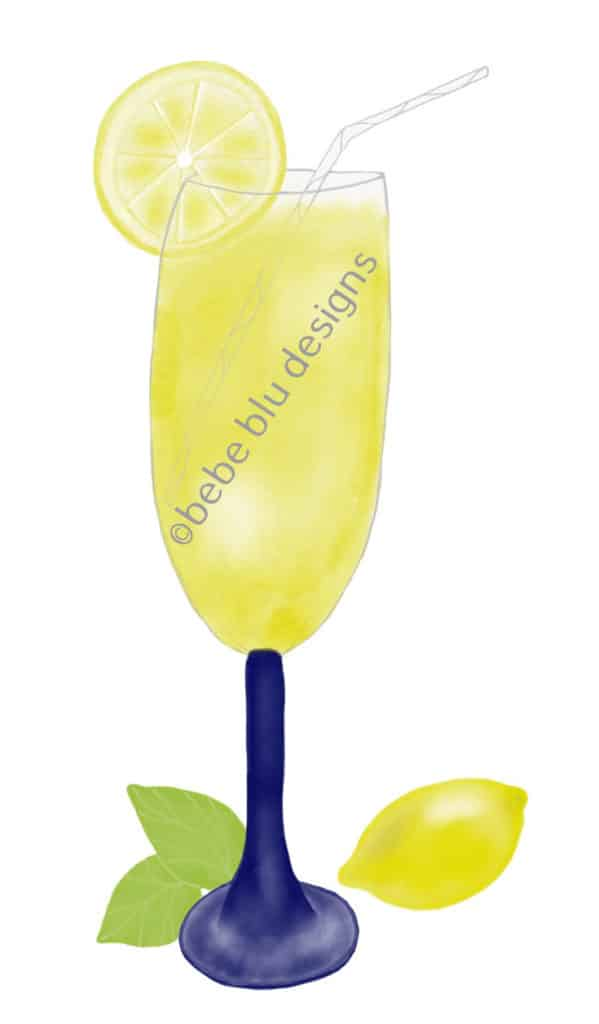 bebeblue designs: lemonade artwork
