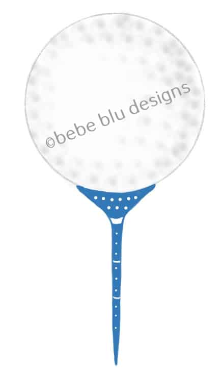 bebeblue designs: golf ball blue tee artwork