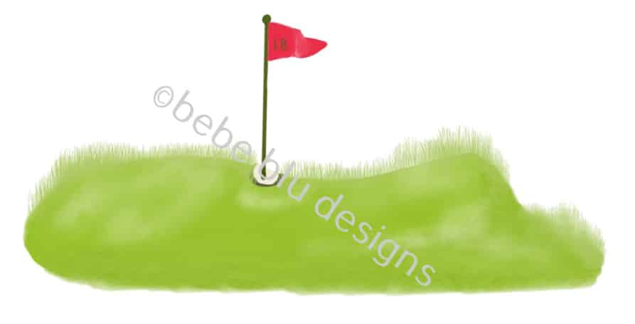 bebeblue designs: golf flag artwork