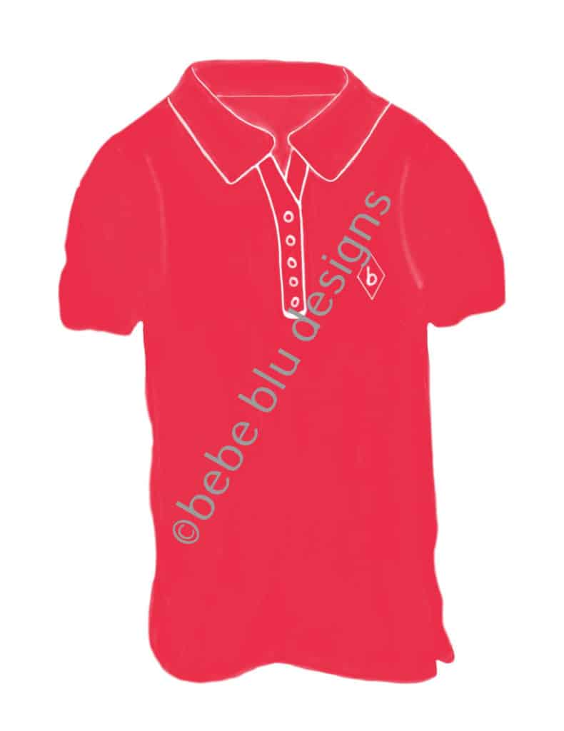 bebeblue designs: cherry red golf shirt artwork