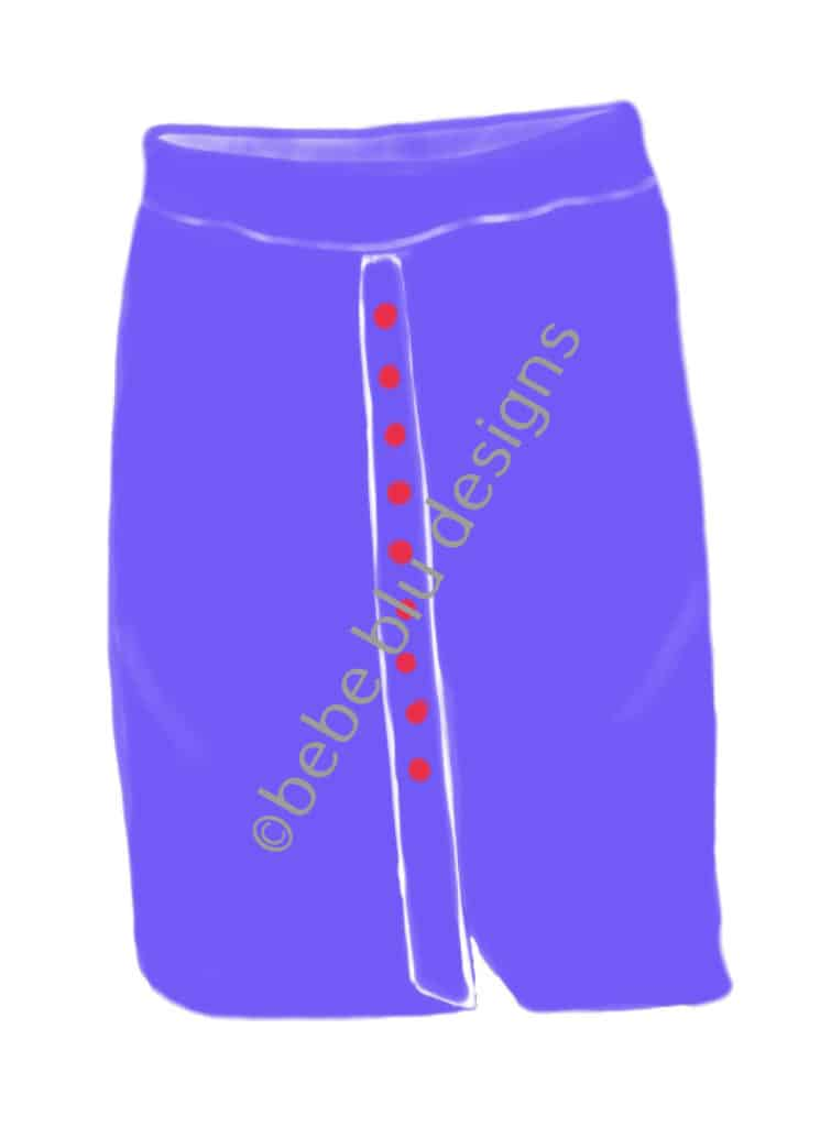 bebeblue designs: golf skirt artwork