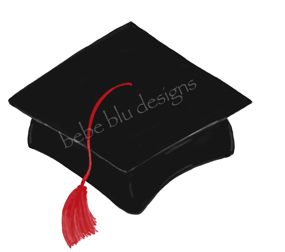 graduation cap red tassle