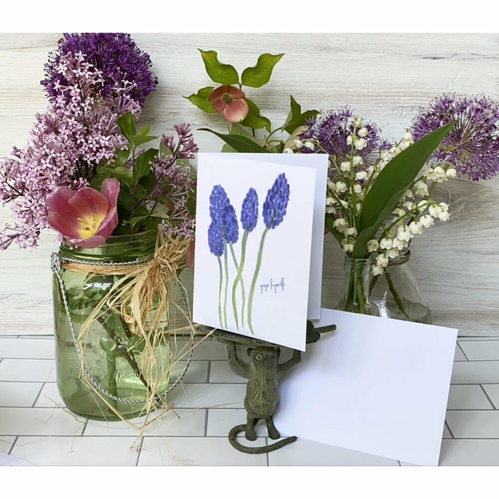 grape hyacinth greeting