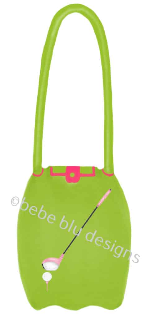 bebeblue designs: green golf purse artwork