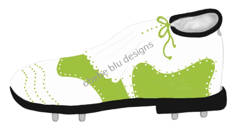 bebeblue designs: green golf shoe artwork