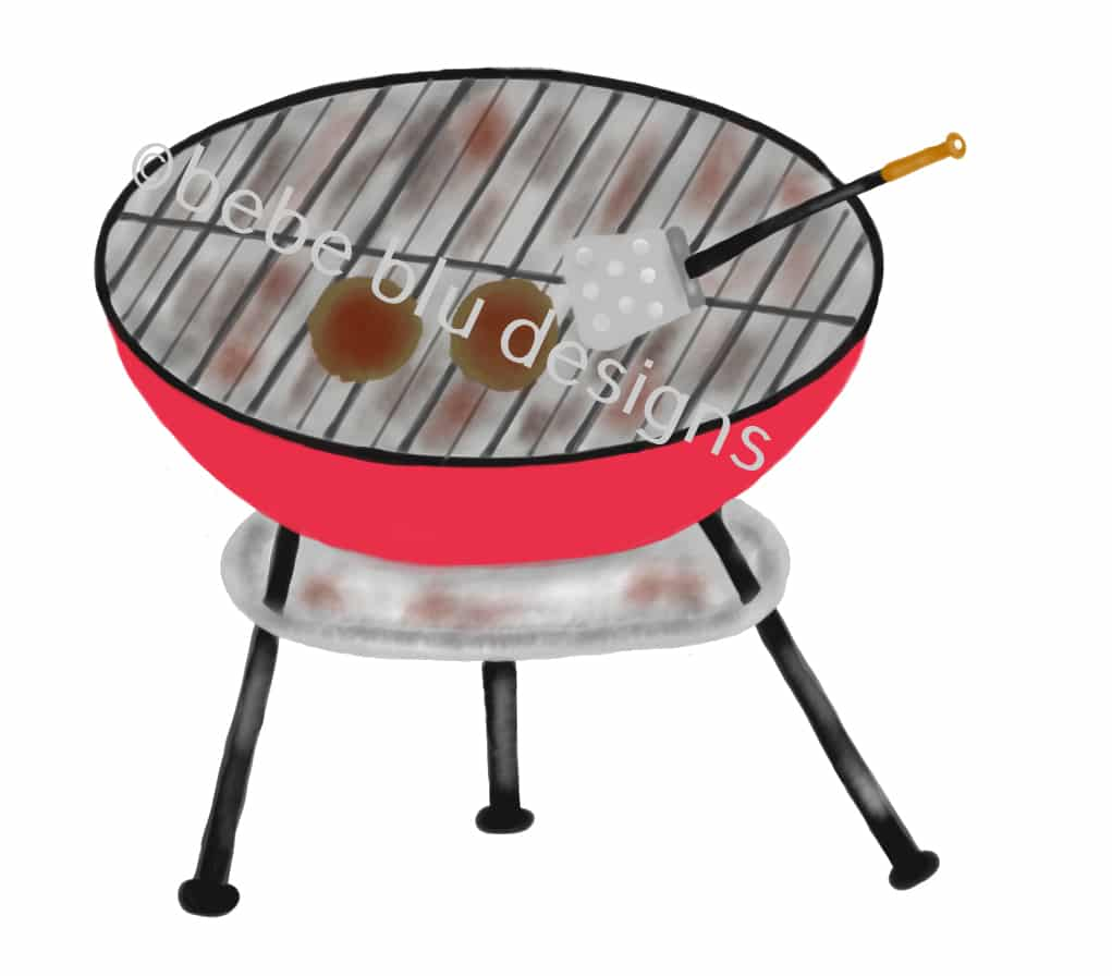 bebeblue designs: grill artwork