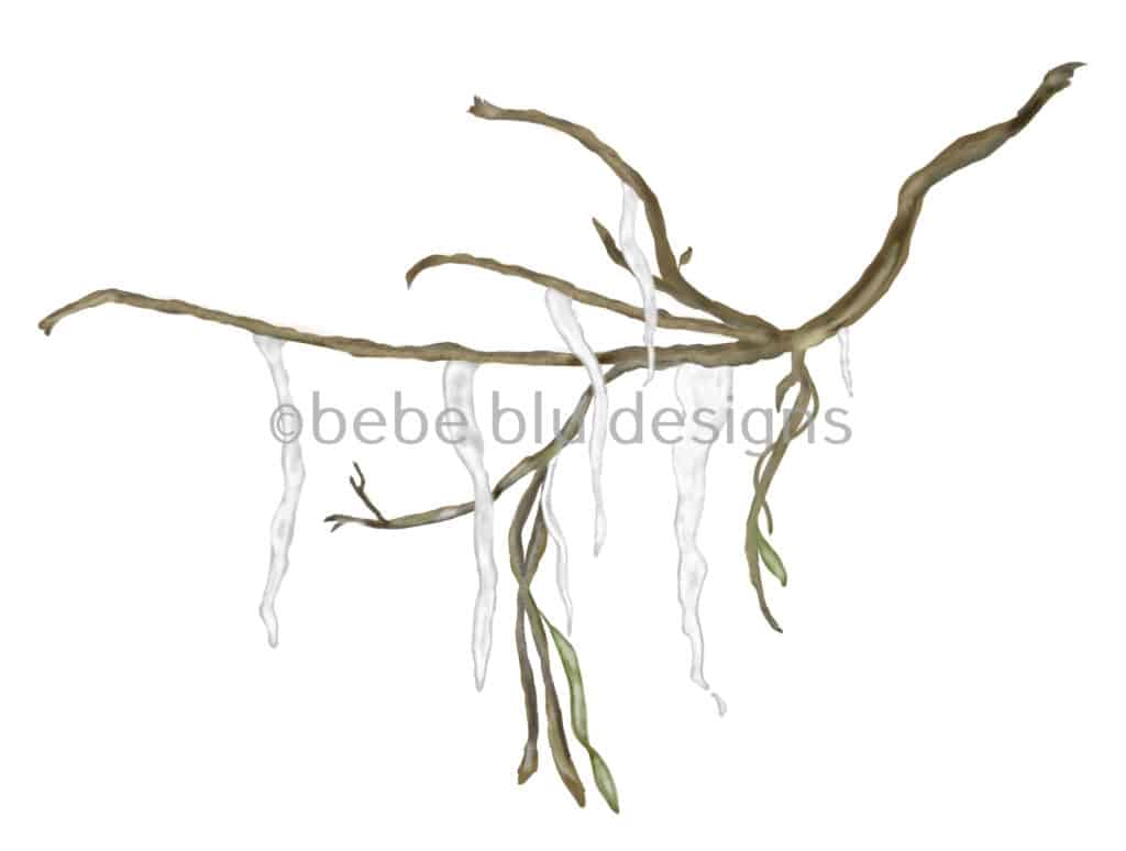 bebeblue designs: ice branch artwork