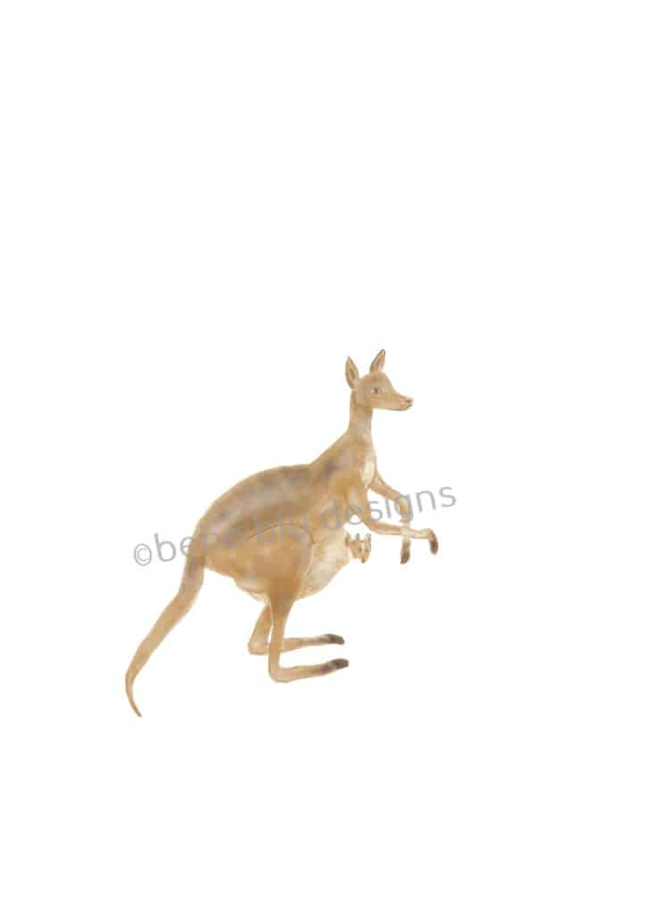 bebeblue designs: kangaroo artwork