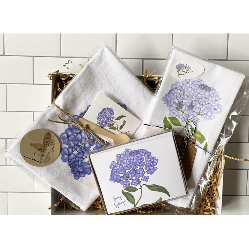 lacecap hydrangea gift box set