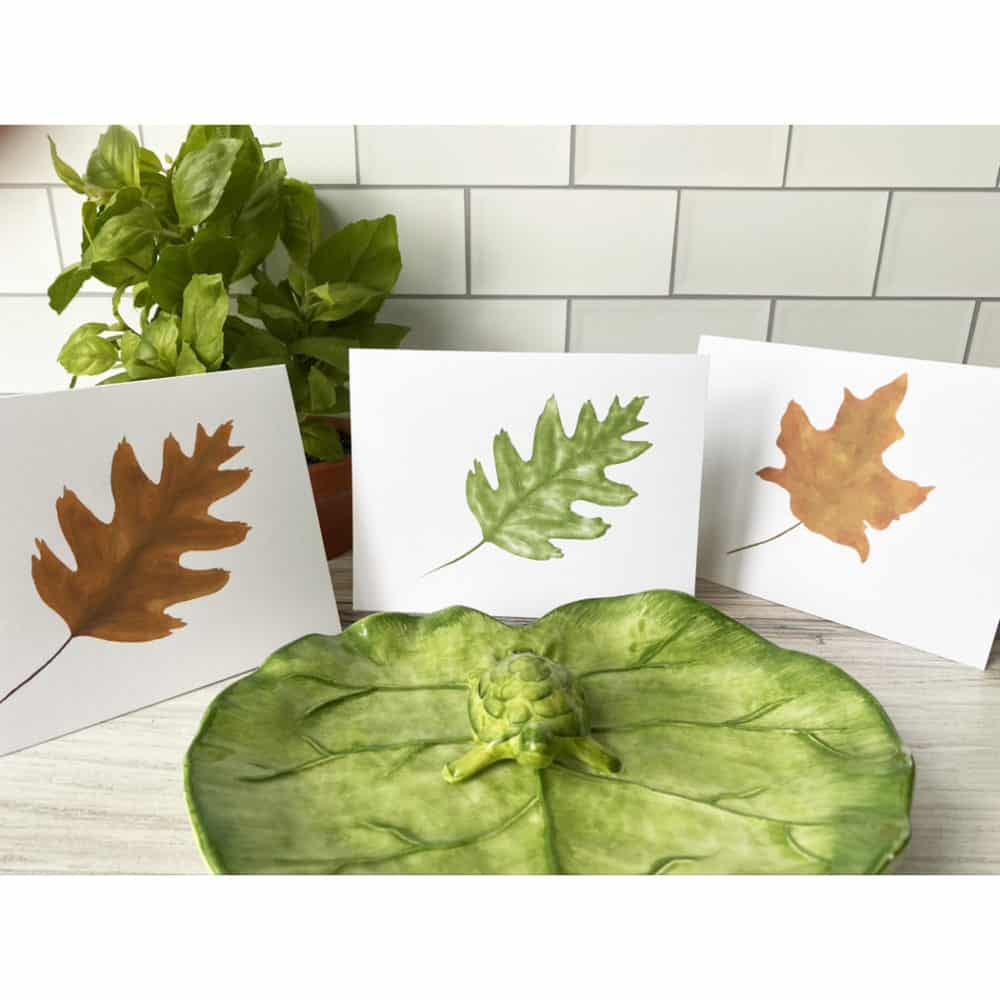 leaf three cards
