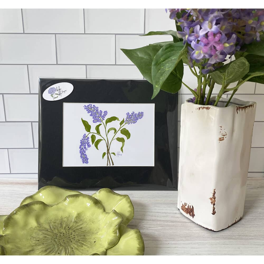 lilac matted print
