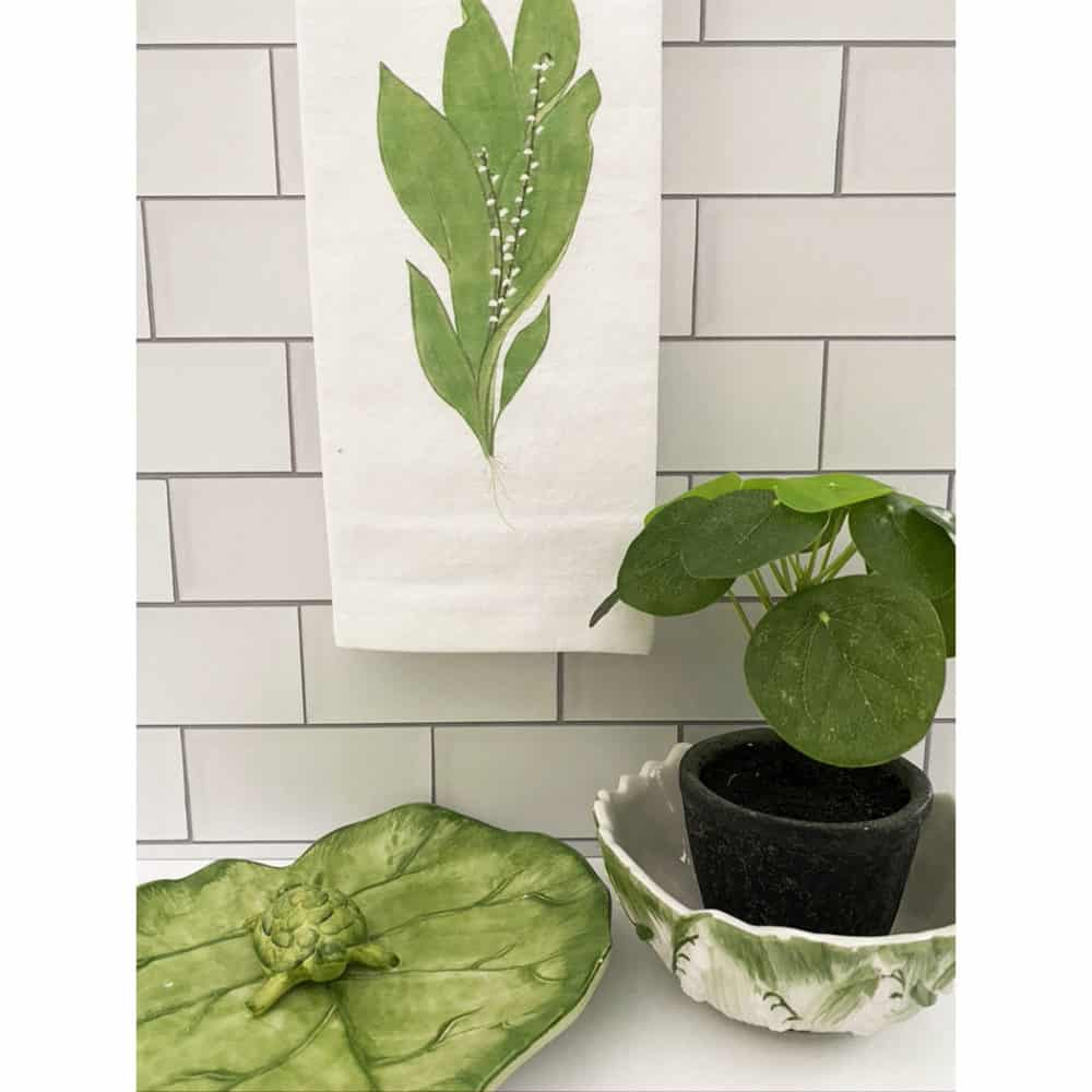 lily of the valley guest towel for web