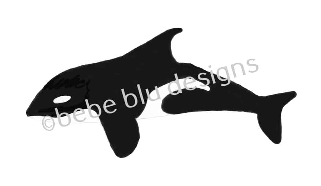 bebeblue designs: orca artwork